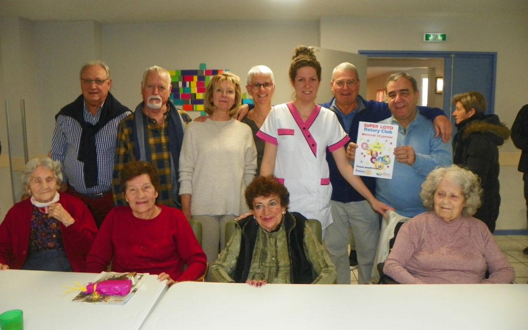 Le Rotary se mobilise pour les résidents
